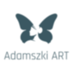 Adamszki ART_Logo_butterfly w text under