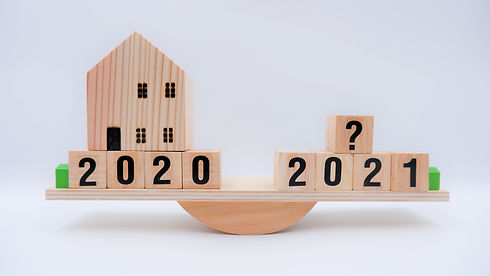 Scale comparing 2020 and 2021 housing market trends, question on real estate economics fut