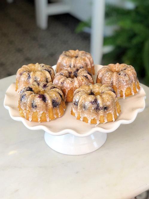 Blueberry Lemon Mini Bundt Cake