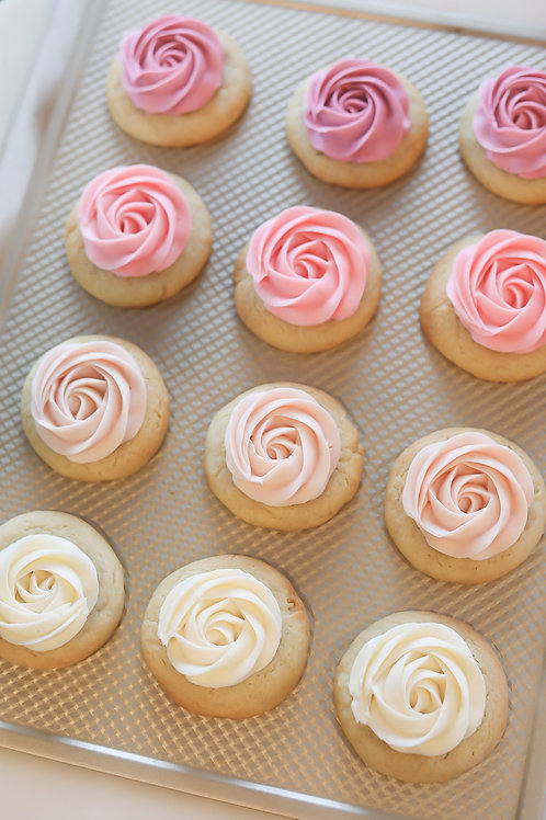 Ombre Sugar Rosette Cookies