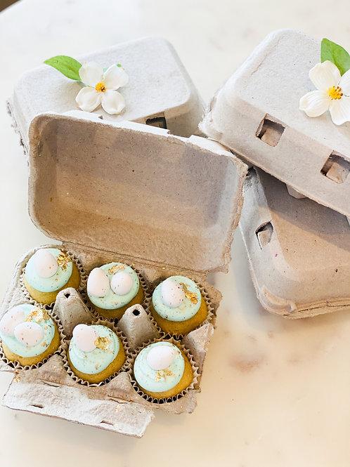 Egg Carton Mini Cupcakes