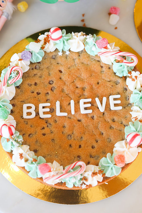 Believe Chocolate Chip Cookie Cake