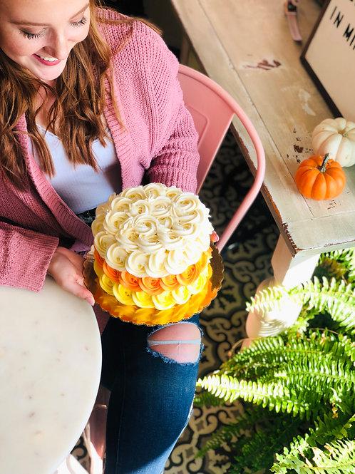 Halloween Rosette Cake