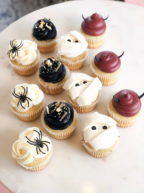 Halloween Variety Design Cupcakes