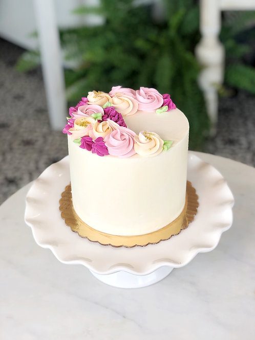 Vanilla + Sugar Buttercream Flower Cake