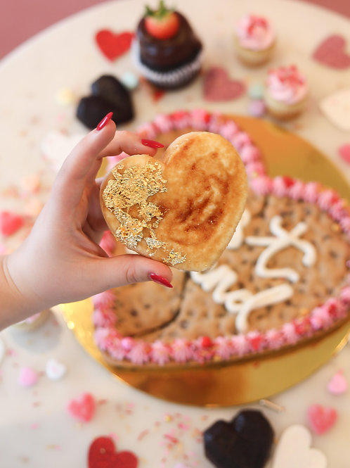 Creme Brulee Heart Cookie