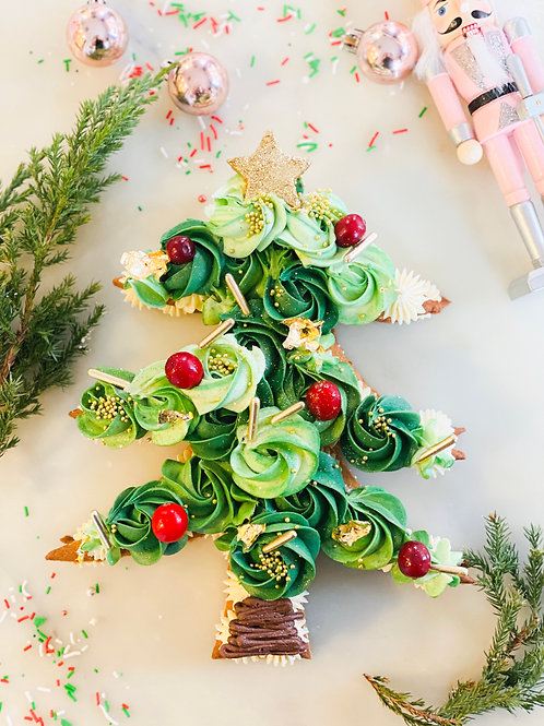 Christmas Tree Cookie Cake