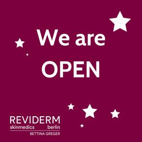 REVIDERM skinmedics BERLIN hat für Sie geöffnet!