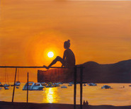 Santa Ponsa Sunset silhouette