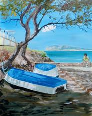 Santa Ponsa boats on beach