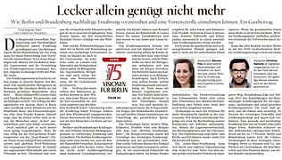 75 Versionen für Berlin, Ausschnitt aus dem Zeitungsartikel