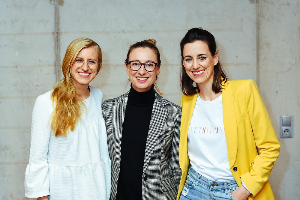 Lia Marlen Schmökel, Annemarie Heyl (Founder Kale&Me) and Simone K. Frey