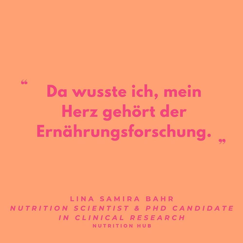 Zitat und Interview mit Lina Samira Bahr