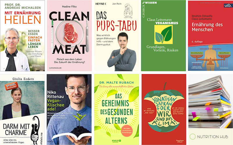 Nutrition Hub´s 10 Lieblingsbücher zum Thema Ernährung und Gesundheit