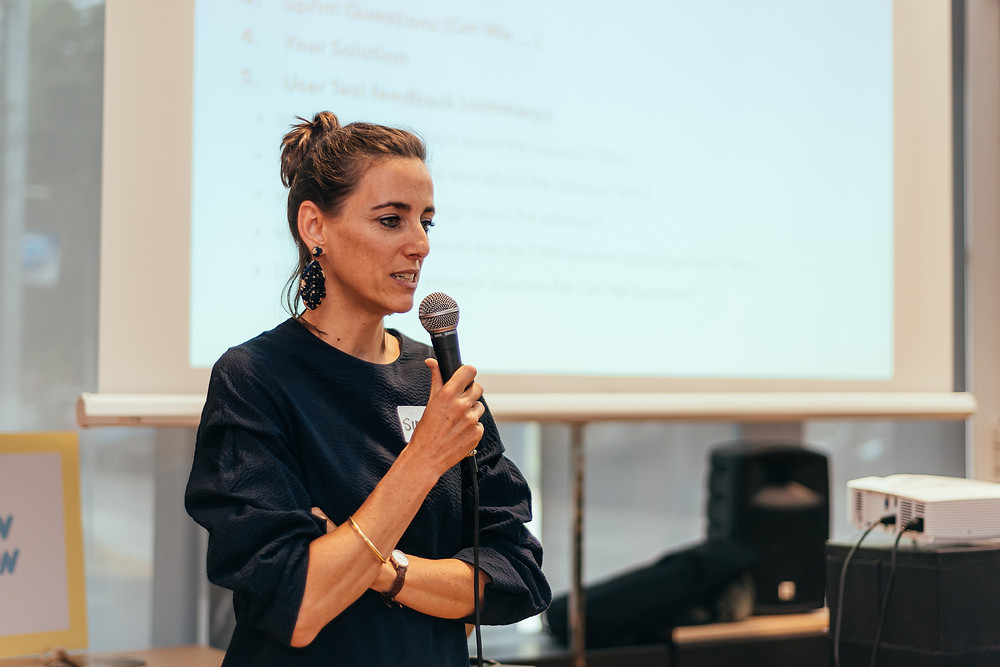 Simone during the NUTRITION HUB Hackathon in July 2019: Bring together 30 people with backgrounds in business, tech, and nutrition to come up with ideas and solutions for challenges the nutrition market is facing.