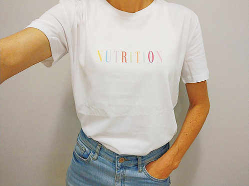 NUTRITION T-SHIRT (white)