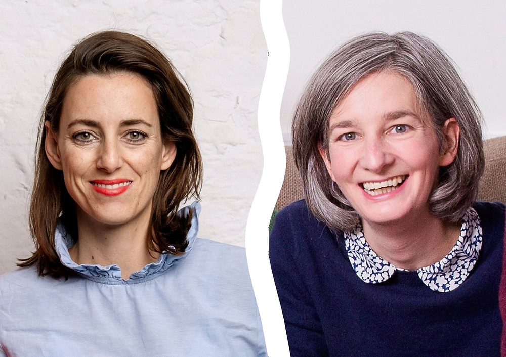 two woman laughing, Simone Frey and Dr. Anne Mullen