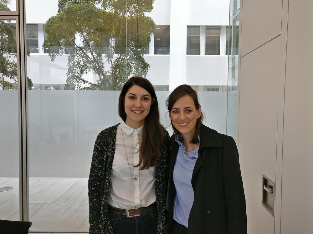 zwei braunhaarige Frauen, Dr. Stefanie Speiser und Simone Frey