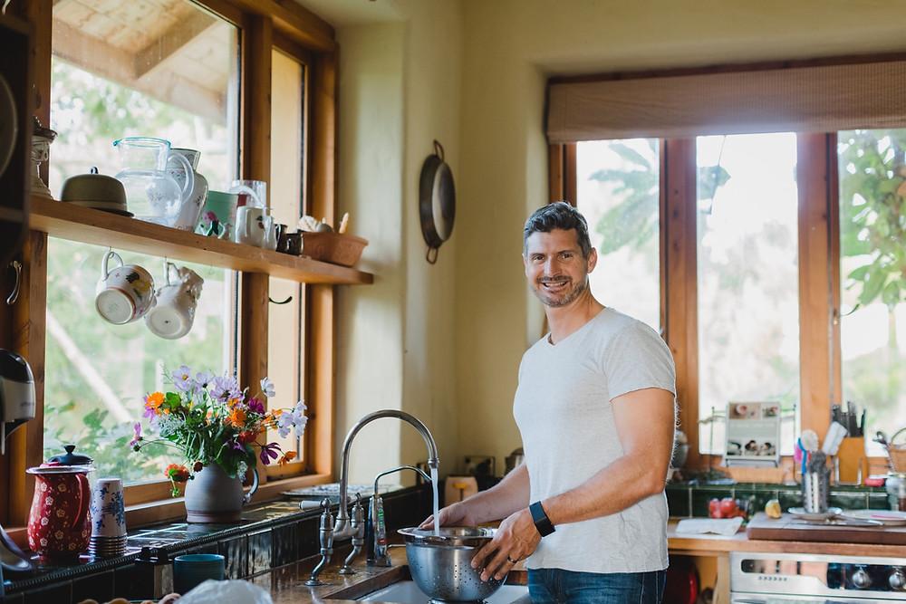 young man standing in the kitchen, Ben Warren
