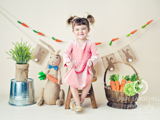 The Easter Bunny is here! | Julie Larochelle Photography | Mississauga Children Photographer