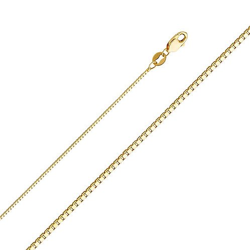 14k Yellow Gold 1-mm Box Chain Necklace
