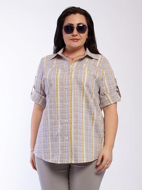 Рубашка 220-428 серый