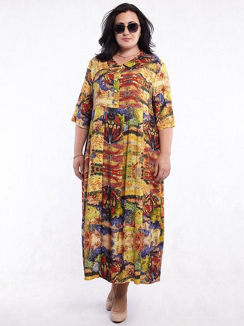 Платье 219-334 акварель