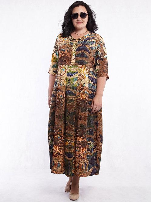 Платье 219-334 мозайка
