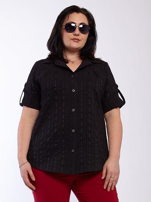 Рубашка 220-428 черный