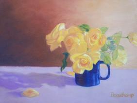 Yellow Roses in Mug