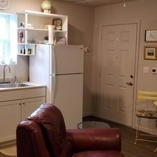 Kitchen and entry door