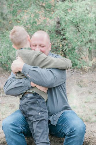 Gezinsfotografie vader en zoon