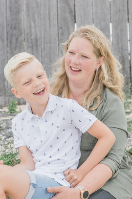 Foto moeder en zoon