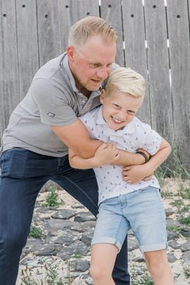Foto vader en zoon