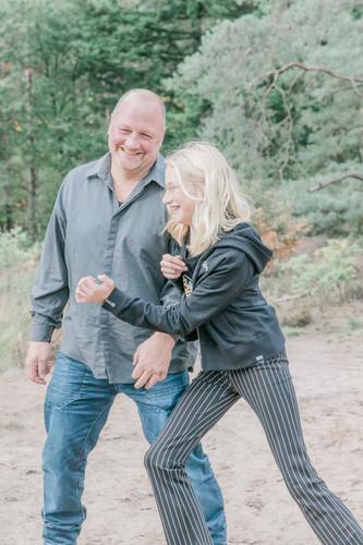 Gezinsfotografie vader en dochter