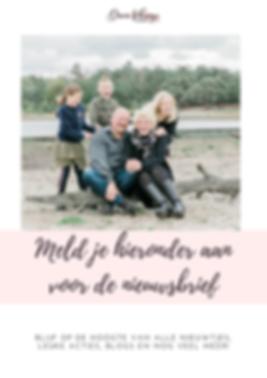 Nieuwsbrief gezinsfotografie en bruidsfotografie Friesland.