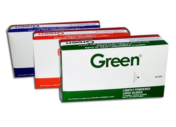 Green Lateks Pudralı Eldiven 100'lü Paket
