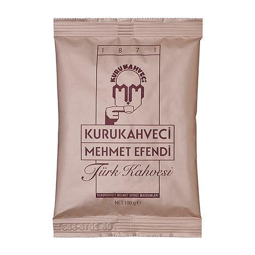 Kurukahveci Mehmet Efendi Türk Kahvesi Poşet 100 Gr 25'li Koli
