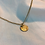 Thumbnail: Pampas grass textured 18ct gold necklace. Dainty. Rolled gold