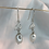 Thumbnail: Silver holly and pearl earrings. Winter berry, snow, dangle earrings.