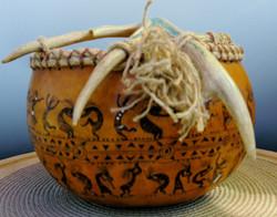 Gourd art - Dancers & The Band