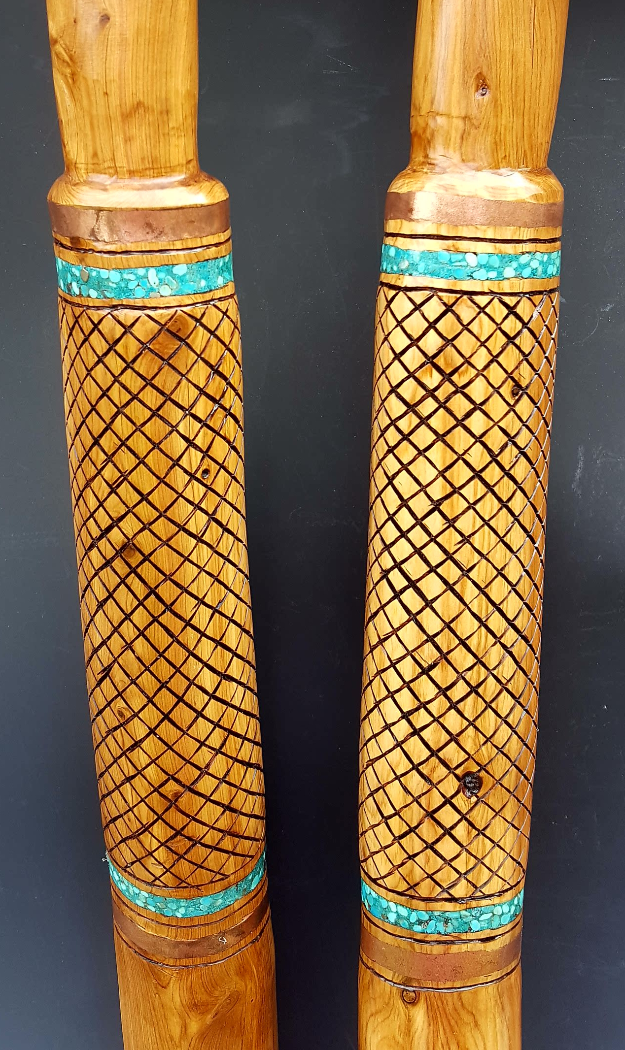 Footed Canes - Pair