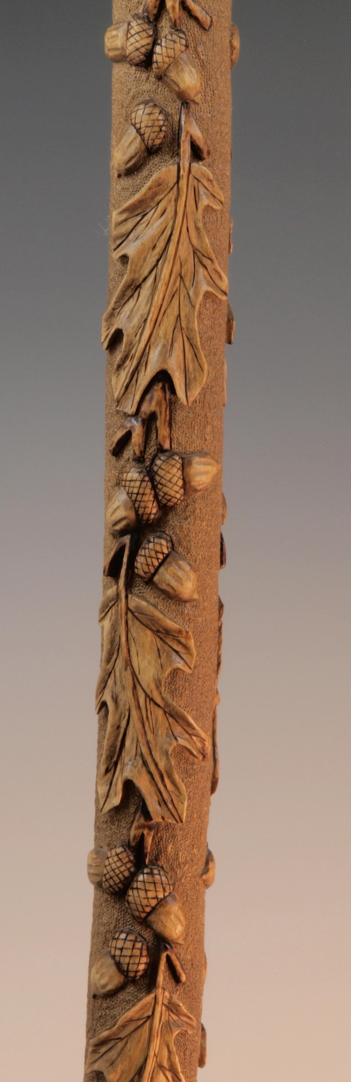 Oak Leaves & Acorns Cane