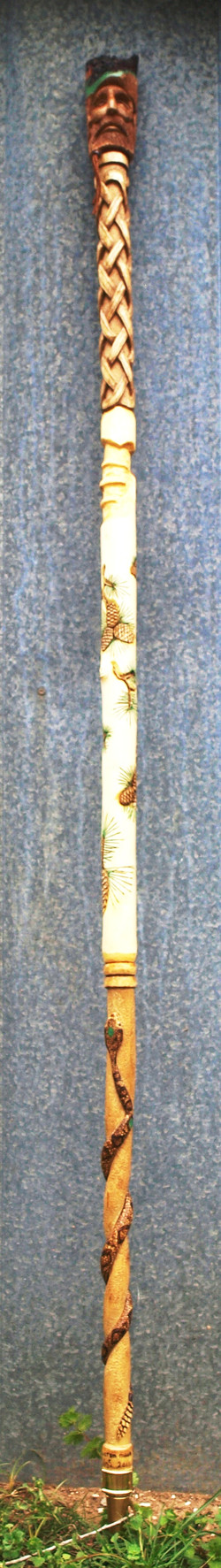 Aspen Pine Tree Staff