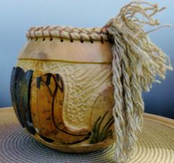 Gourd art - Cowboy Boots