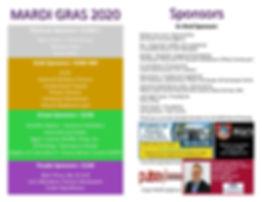 Mardi Gras program 2020 condensed in kin