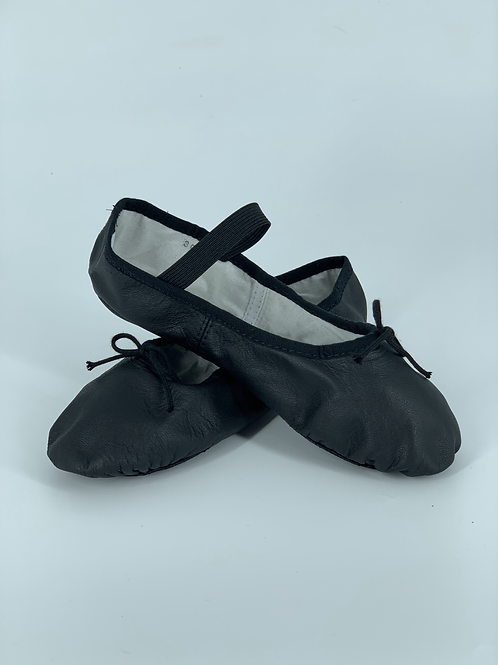 Black Leather Ballet Shoe