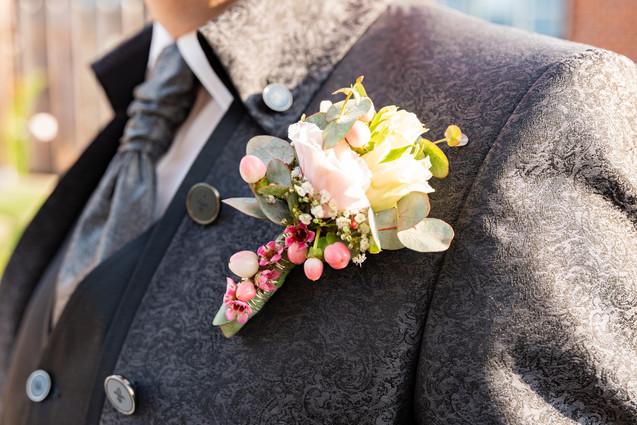 Bräutigam Blumenbouquet