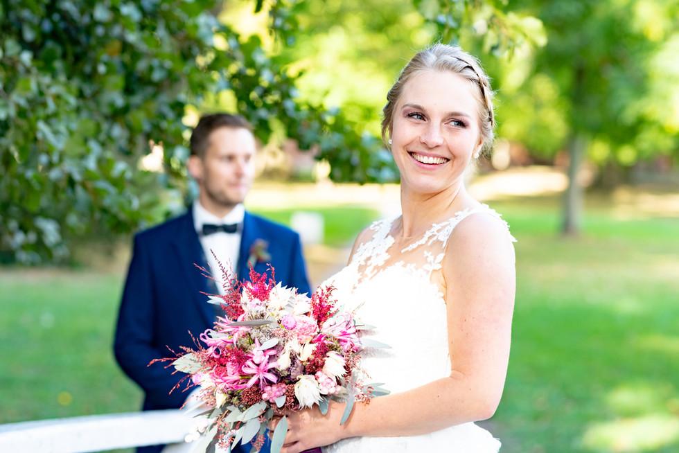 Braut beim Hochzeitsshooting