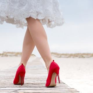 Rote Brautschuhe
